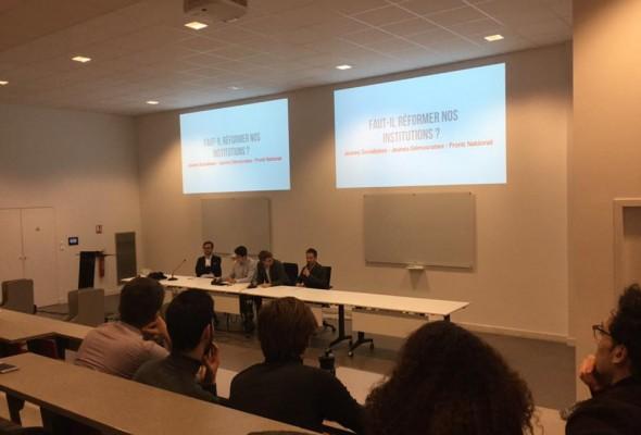 Débat à Sciences Po Bordeaux avec le FNJ